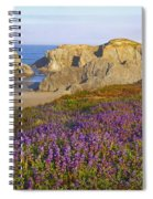 Wildflowers And Rock Formations Along Spiral Notebook