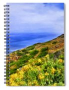 Wildflowers At Point Loma Spiral Notebook