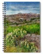 Wildflowers In Badlands Spiral Notebook