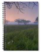 Wildflowers On A Foggy Pasture Spiral Notebook