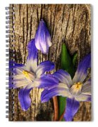 Wildflowers On Wood Spiral Notebook