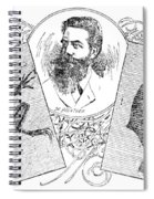 Wilhelm Konrad Roentgen, German Spiral Notebook
