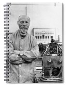 Willem Einthoven, Dutch Physiologist Spiral Notebook