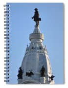 William Penn - On Top Of City Hall Spiral Notebook