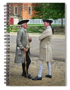 Williamsburg Colonists Spiral Notebook