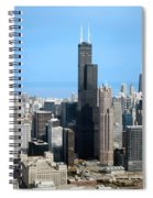 Willis Sears Tower 01 Chicago Spiral Notebook