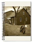 Williston Mill - Sepia Spiral Notebook