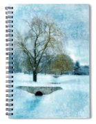 Willow Trees By Stream In Winter Spiral Notebook