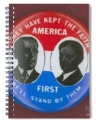 Wilson Campaign Button Spiral Notebook