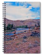 Wind River And Horses Spiral Notebook
