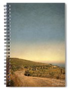 Winding Road To The Sea Spiral Notebook