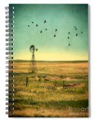Windmill And Birds Spiral Notebook