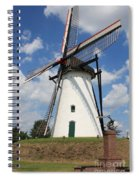 Windmill And Blue Sky Spiral Notebook