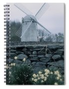 Windmill And Daffodils  Spiral Notebook