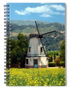 Windmill At Mission Meadows Solvang Spiral Notebook