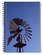 Windmill In Blue  Spiral Notebook