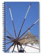 Windmill In Santorini Spiral Notebook
