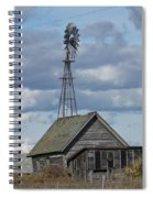 Windmill In The Storm Spiral Notebook