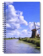 Windmills In Holland Spiral Notebook