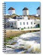 Windmills On Mykonos Spiral Notebook