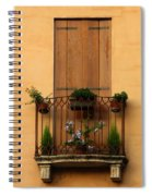 Window And Balcony In Vicenza Spiral Notebook