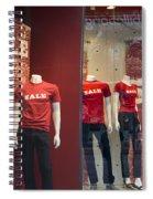 Window Display Sale With Mannequins No.0112 Spiral Notebook