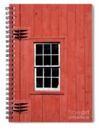 Window In Red Wall Spiral Notebook