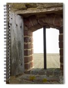 Window Of A Derelict House Overlooking Field Spiral Notebook