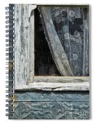Window Of Old Abandoned Building Spiral Notebook