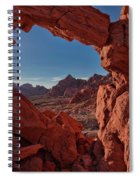 Window On The Valley Of Fire Spiral Notebook