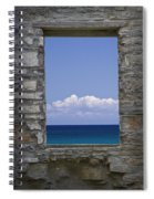 Window View At Fayette State Park Michigan Spiral Notebook