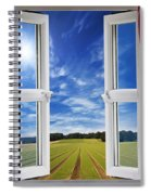 Window View Onto Arable Farmland Spiral Notebook