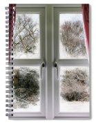 Window View To A Snow Scene Spiral Notebook