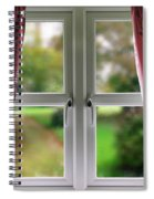 Window With Curtains Spiral Notebook