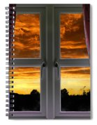 Window With Fiery Sky Spiral Notebook