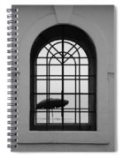 Windows On The Beach In Black And White Spiral Notebook