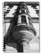 Windows On The Dakota In Black And White Spiral Notebook