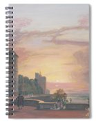 Windsor Castle North Terrace Looking West At Sunse Spiral Notebook