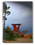Windy Day In Haleiwa Spiral Notebook