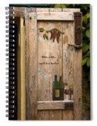 Wine A Bit Door Spiral Notebook