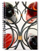 Wine Bottles In Curved Wine Rack Spiral Notebook