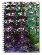 Wine Goblets Spiral Notebook
