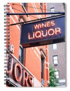 Wines And Spirits Sign Spiral Notebook