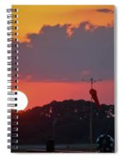 Wings At Rest Under The Sunset Spiral Notebook