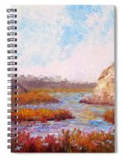 Winter At The Back Bay Spiral Notebook