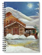 Winter At The Cabin Spiral Notebook
