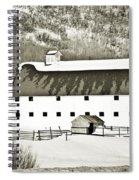 Winter Barn 2 Spiral Notebook