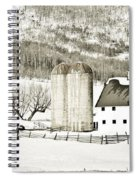 Winter Barn 3 Spiral Notebook