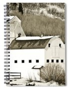 Winter Barn 4 Spiral Notebook