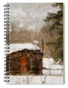 Winter Cabin 2 Spiral Notebook